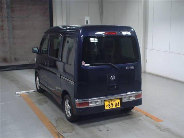 Daihatsu Atrai 2015 синий сзади
