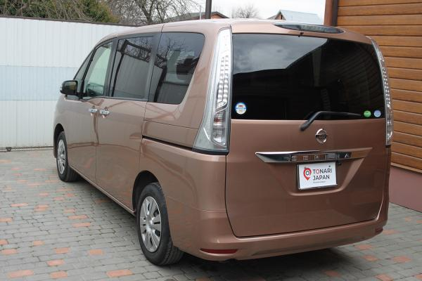 Nissan Serena 2016 коричневый зад