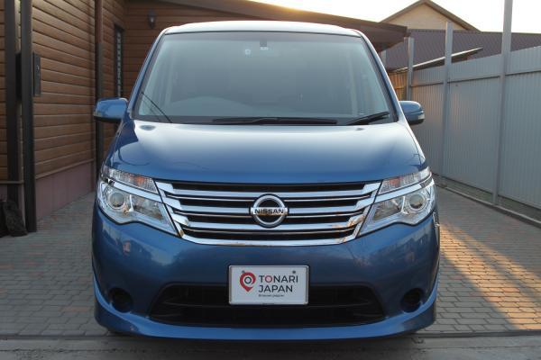 Nissan Serena 2016 синий вид спереди