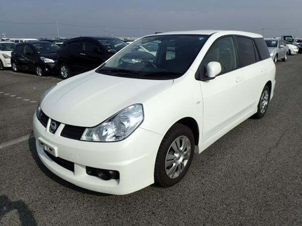 Nissan Wingroad 2016 белый передний бампер
