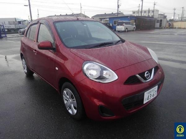 Nissan March 2015 красный