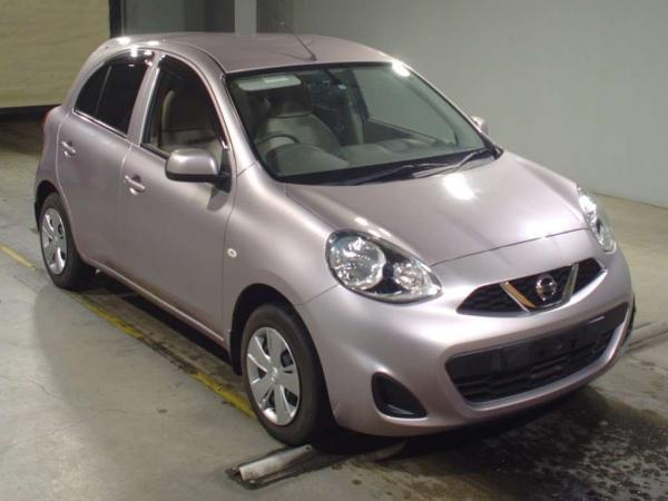 Nissan March 2015 серый