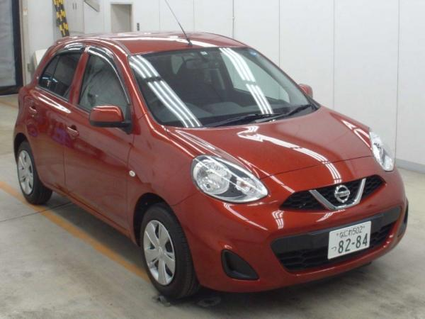 Nissan March 2015 оранжевый