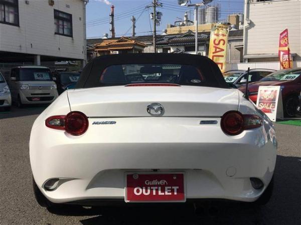 Mazda Roadster 2015 белый сзади