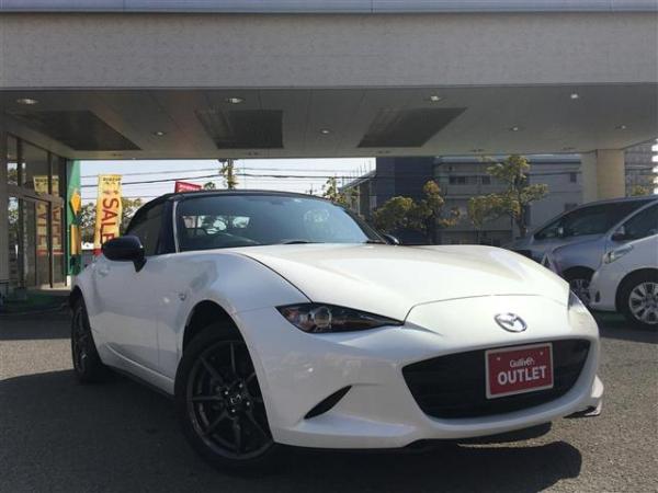 Mazda Roadster 2015 белый спереди