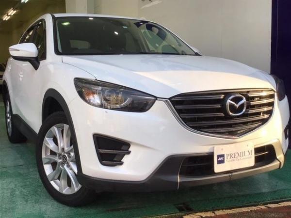 Mazda CX-5 XD 2015 белый спереди