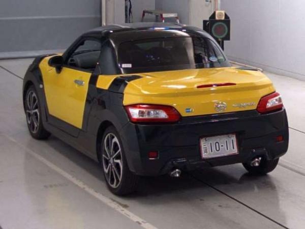 Daihatsu Copen 2015 жёлтый сзади