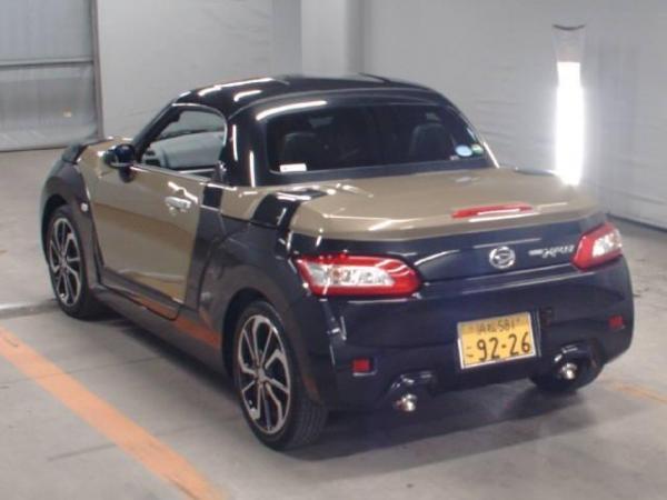 Daihatsu Copen 2015 коричневый сзади