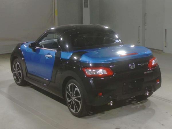 Daihatsu Copen 2015 синий сзади
