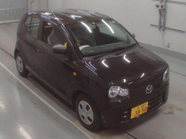 Mazda Carol VII 2015 коричневый спереди