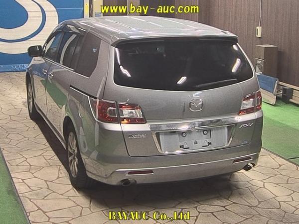 Mazda MPV III Рестайлинг серый сзади