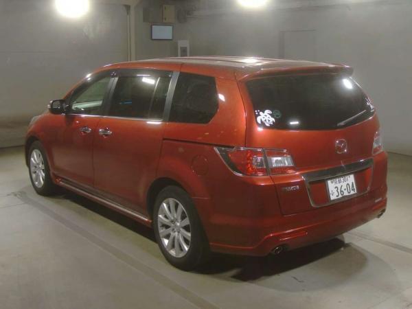 Mazda MPV III Рестайлинг оранжевый сзади