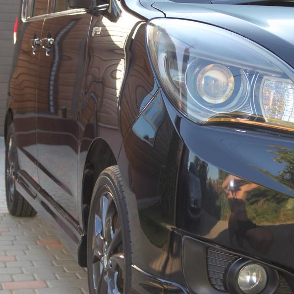Suzuki Solio 2014 черный левая фара