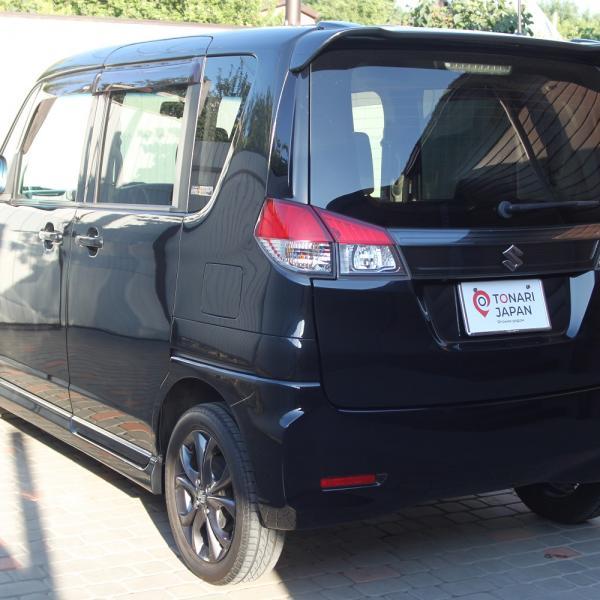 Suzuki Solio 2014 черный левый бок сзади