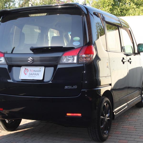 Suzuki Solio 2014 черный вид сзади