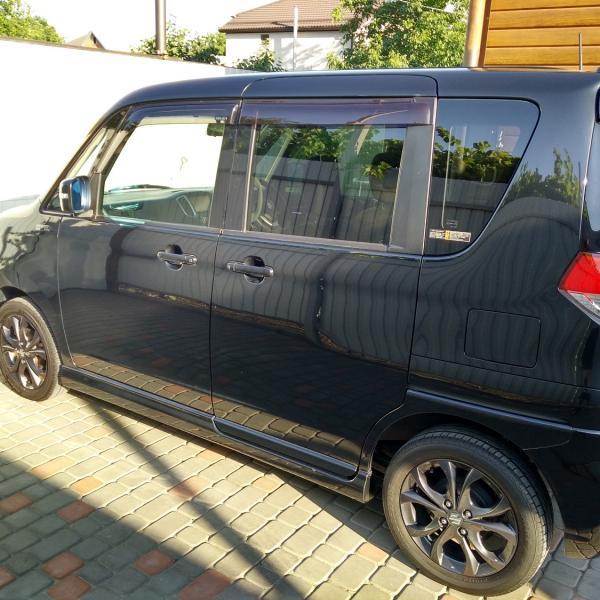 Suzuki Solio 2014 черный левый бок