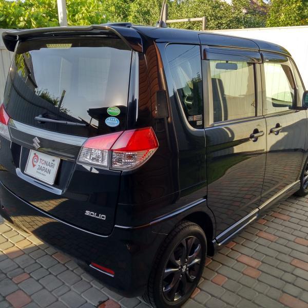 Suzuki Solio 2014 черный правый бок сзади