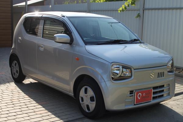 Suzuki Alto VIII 2015 серый правый бок спереди