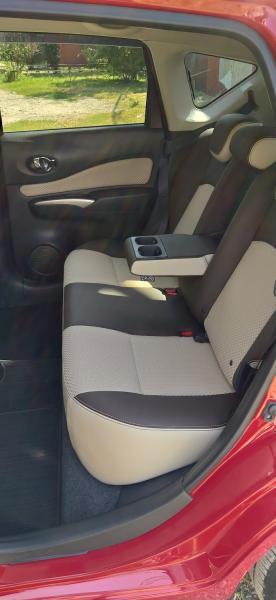 Nissan Note 2015 красный передние сидения