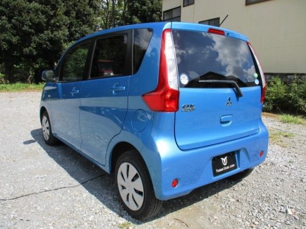 Mitsubishi eK Wagon 2015 синий вид сзади