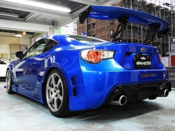Subaru BRZ I 2016 синий тюнинг сзади