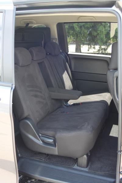 Honda Freed I Рестайлинг серый задние сидения