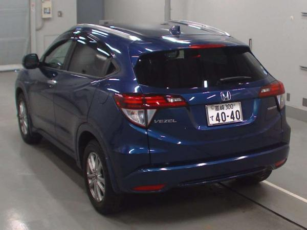 Honda Vezel 2015 синий сзади