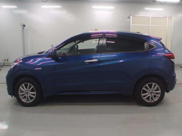 Honda Vezel 2015 синий бок