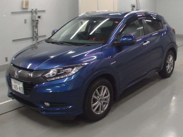 Honda Vezel 2015 синий перед