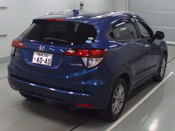 Honda Vezel 2015 синий зад