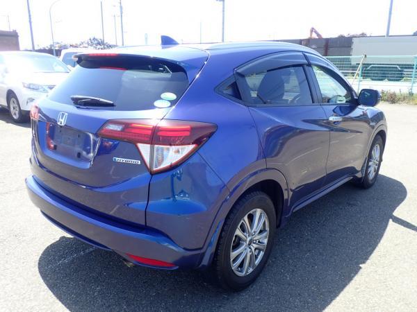 Honda Vezel I Рестайлинг синий вид сзади