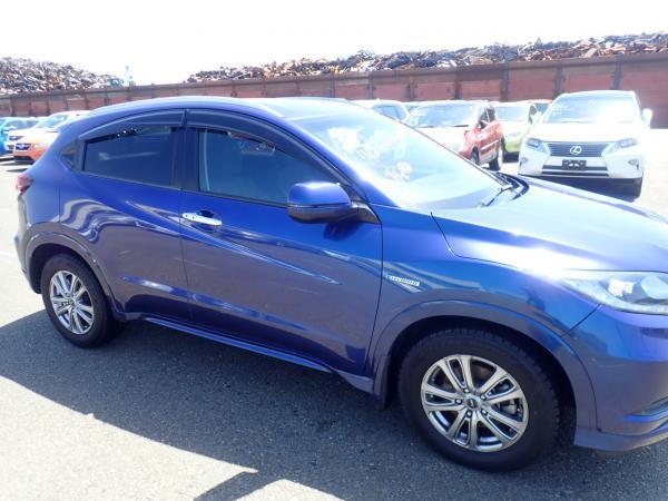 Honda Vezel I Рестайлинг синий сбоку