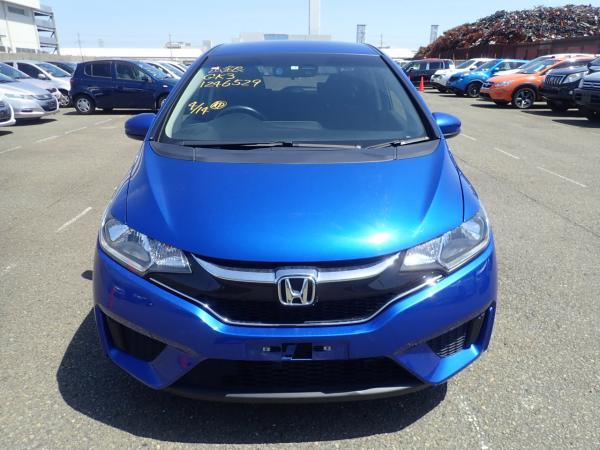 Honda Fit III Рестайлинг синий спереди
