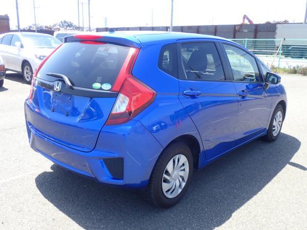 Honda Fit III Рестайлинг синий вид сзади