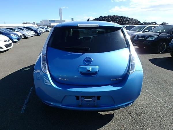 Nissan Leaf 2012 синий сзади