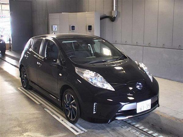 Nissan Leaf I 2016 чёрный спереди