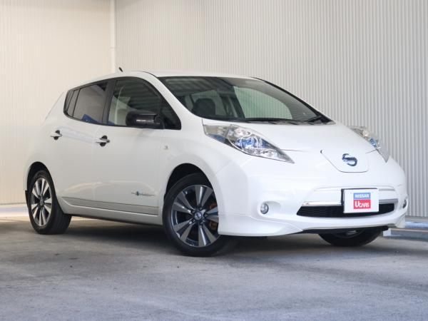 Nissan Leaf I white спереди