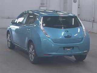 Nissan Leaf I blue сзади