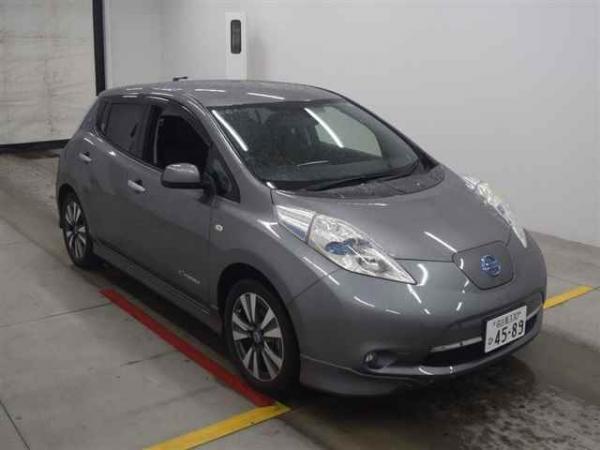 Nissan Leaf I grey спереди