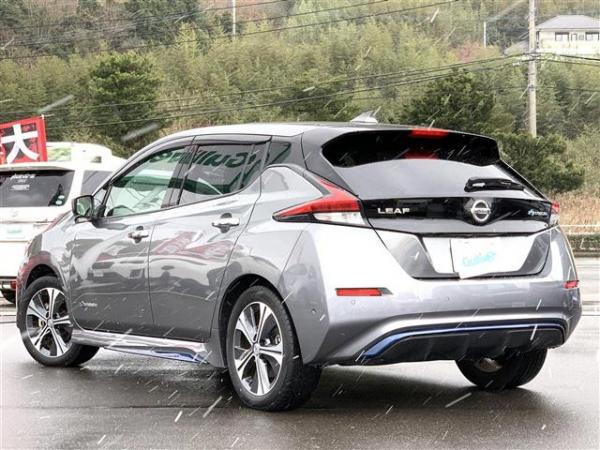 Nissan Leaf II 2017 серый сзади