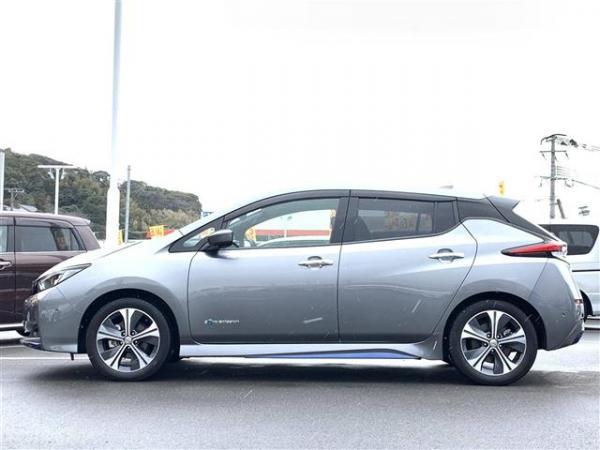 Nissan Leaf II 2017 серый сбоку