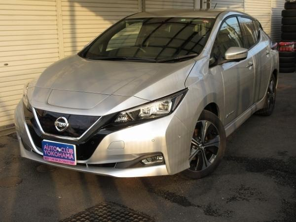 Nissan Leaf II 2017 серый спереди