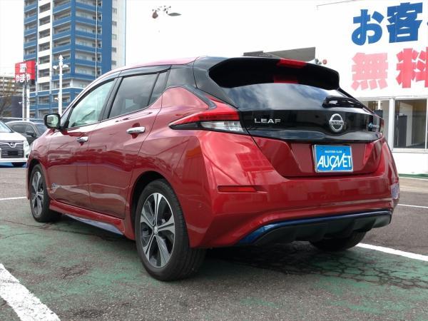 Nissan Leaf II 2017 красный сзади