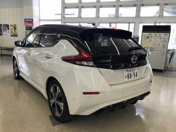Nissan Leaf II 2017 белый сзади